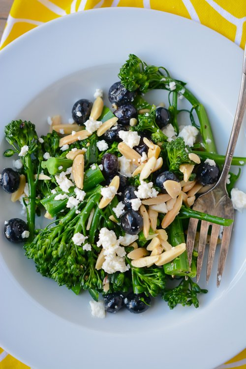 broccolini blueberry and feta salad - perfect for packing into lunches ...