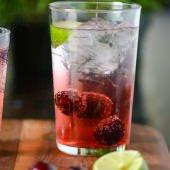 dark cherry drinking vinegar - www.scalingbackblog.com