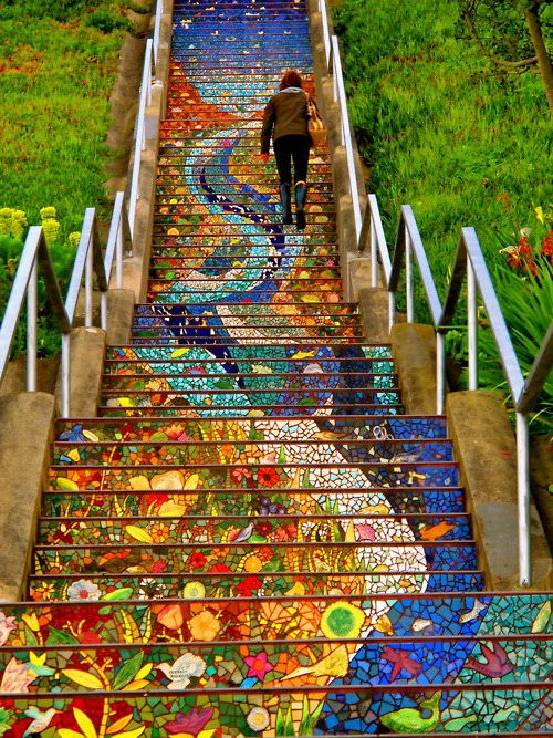 San Francisco's Secret Mosaic Staircase   Scalingbackblog