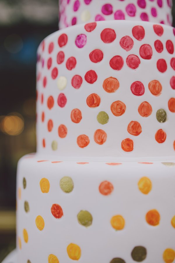 watercolor wedding cake   Scalingbackblog.com