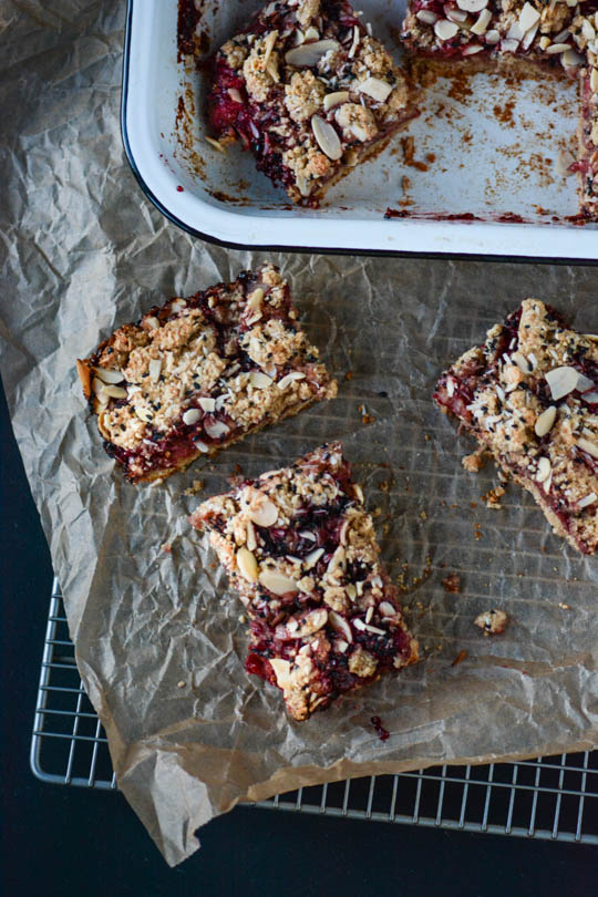Strawberry Chia Seed Jam Breakfast Bars - Scaling Back