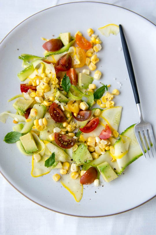 Summer squash salad - all my favorite flavors of summer on one plate!