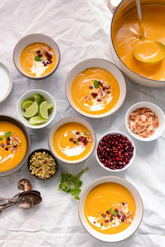Roasted Butternut Coconut Soup | Scaling Back