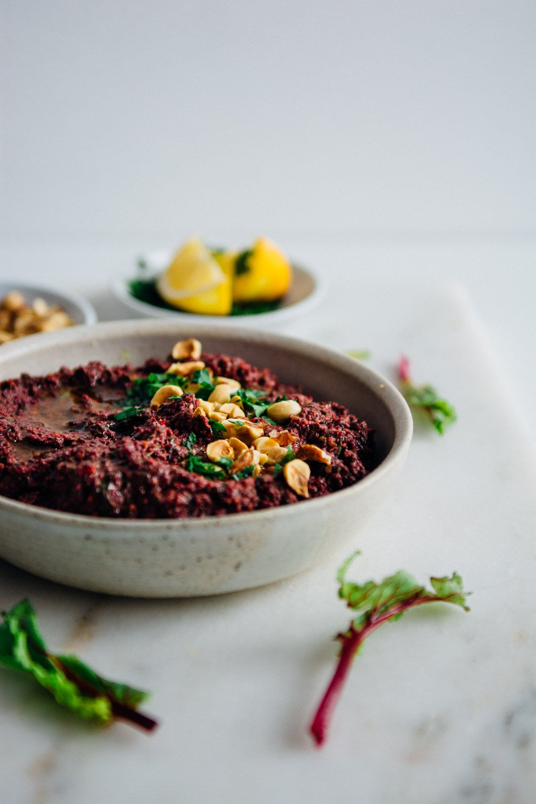 Beet Top Hazelnut Pesto {New Year Reset Day 17} | www.scalingbackblog.com