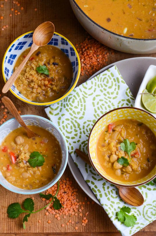 Red lentil coconut soup | scalingback