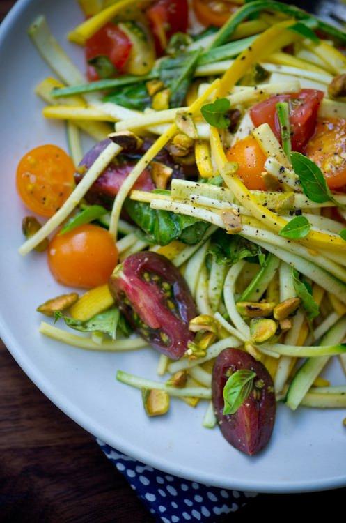 Summer squash tomato pasta recipe