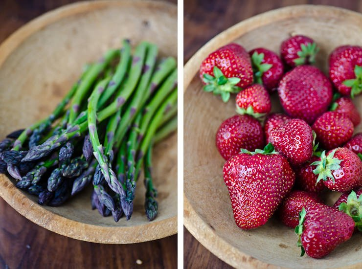 asparagus strawberry