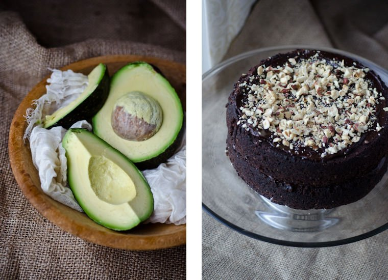 scaling back - chocolate avocado cake