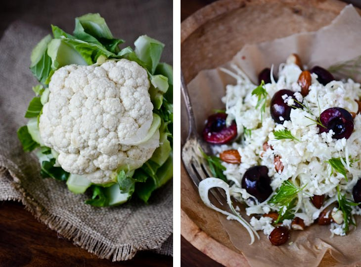 scaling back - cauliflower salad