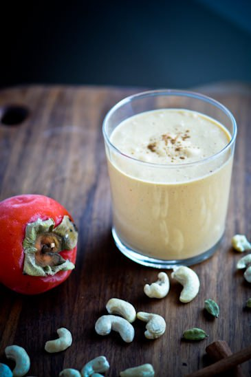 scaling back - spiced persimmon smoothie