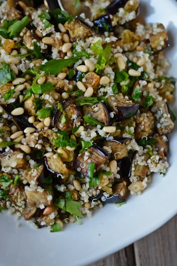 eggplant and quinoa pilaf - Day 21 of my 30 day challenge - Scaling Back