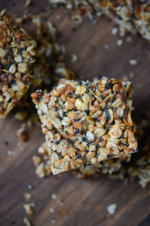 Thai spiced coconut granola bars - www.scalingbackblog.com