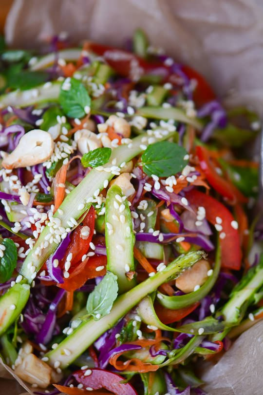 Asian asparagus slaw - www.scalingbackblog.com