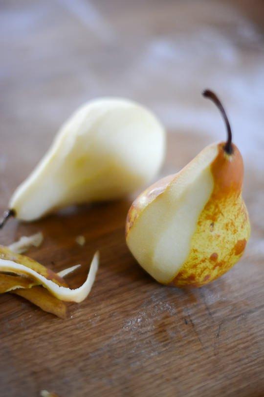 pear hazelnut galette - www.scalingbackblog.com