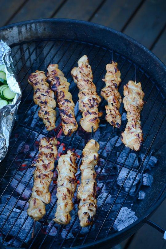 yakitori chicken - www.scalingbackblog.com