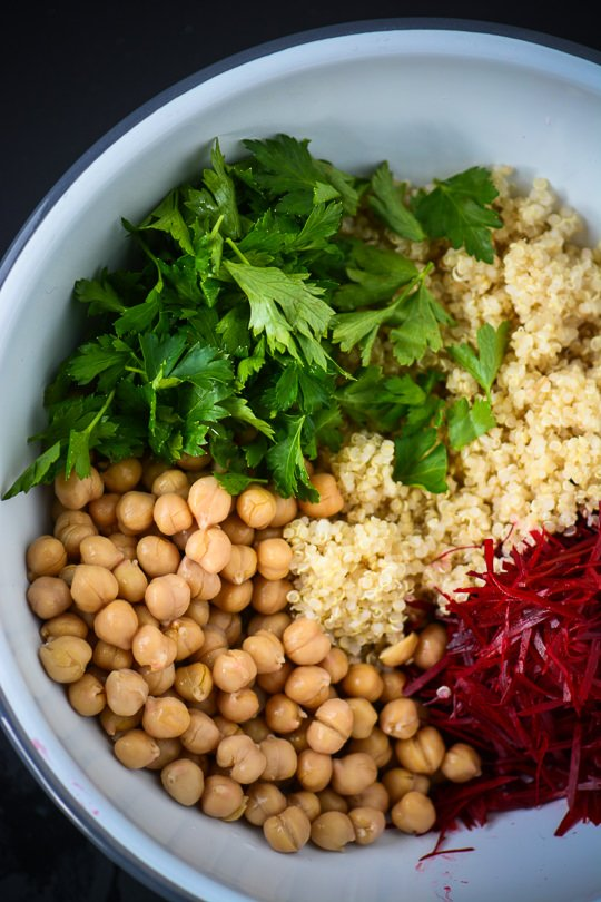 Vegan Beet & Chickpea Bowl With Tahini Sauce