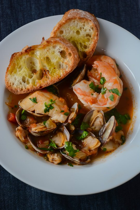Scaling Back: One Pot Seafood Stew, ready in 30 minutes