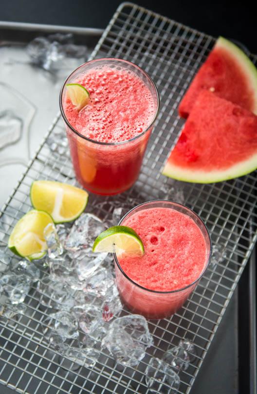 3 ingredient watermelon coconut slushie - 5 minutes to a refreshing summer treat!
