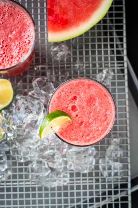 3 ingredient watermelon coconut slushie - 5 minutes to a refreshing summer treat!