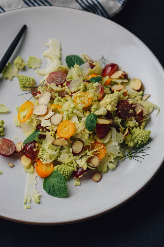 Romanesco, Fennel and Kumquat salad | Scaling Back