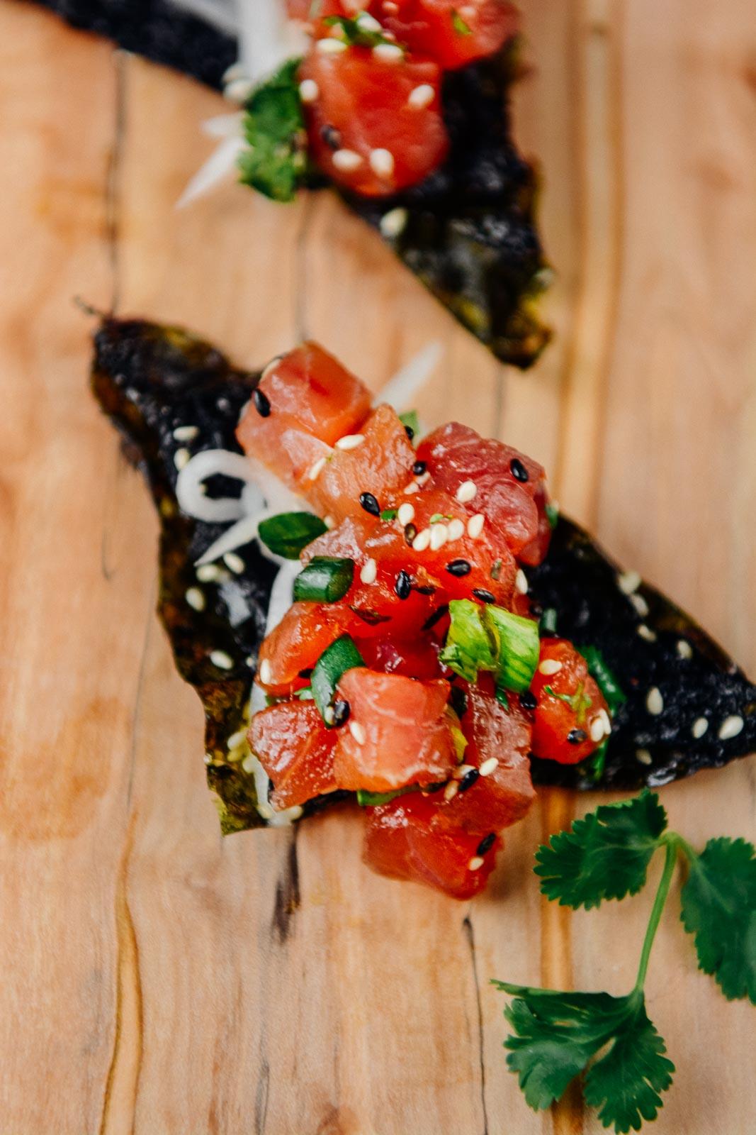 Ahi Tuna Poke | www.scalingbackblog.com