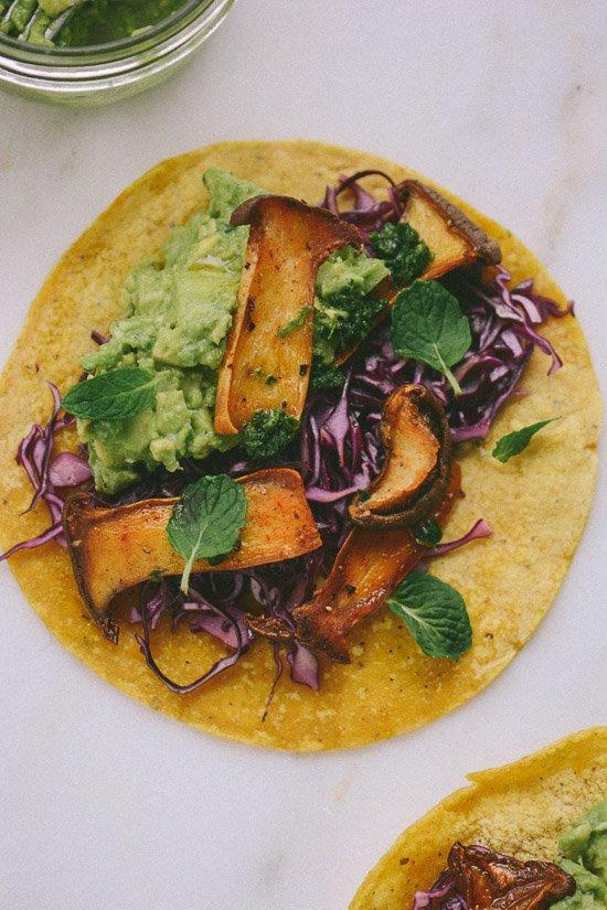 Vegan Oyster Mushroom Tacos | Scaling Back