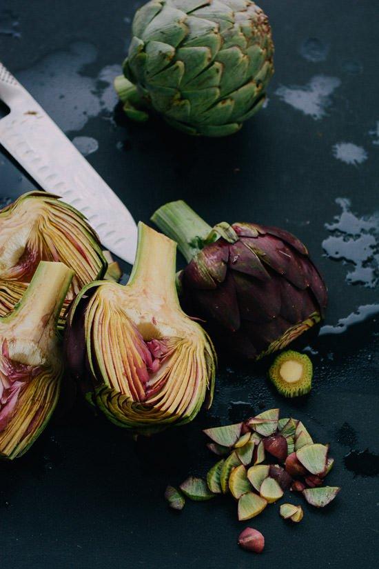 Spring Artichoke Pesto Pasta | Scaling Back