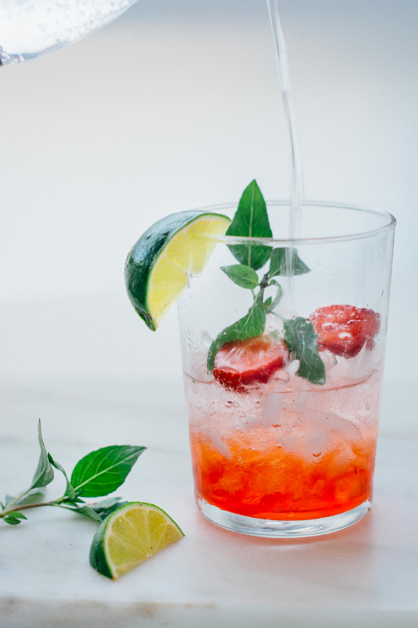 Strawberry Basil Drinking Vinegar | Scaling Back