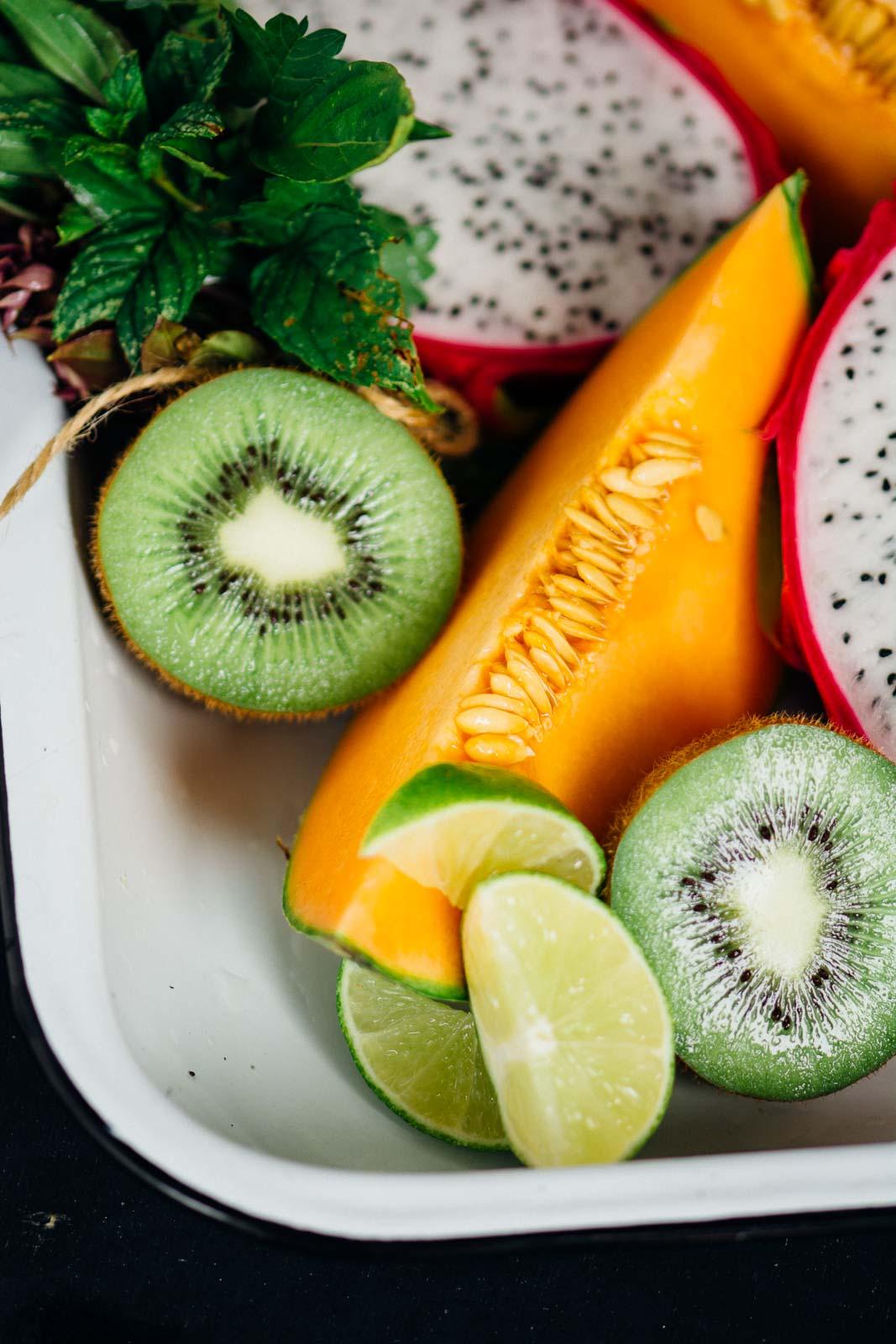 Summer Tropical Fruit Bowl   www.scalingbackblog.com