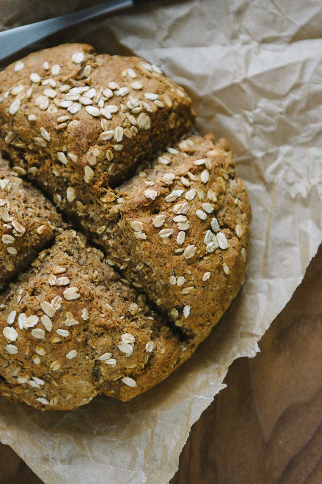 honey hazelnut oat bread | www.scalingbackblog.com