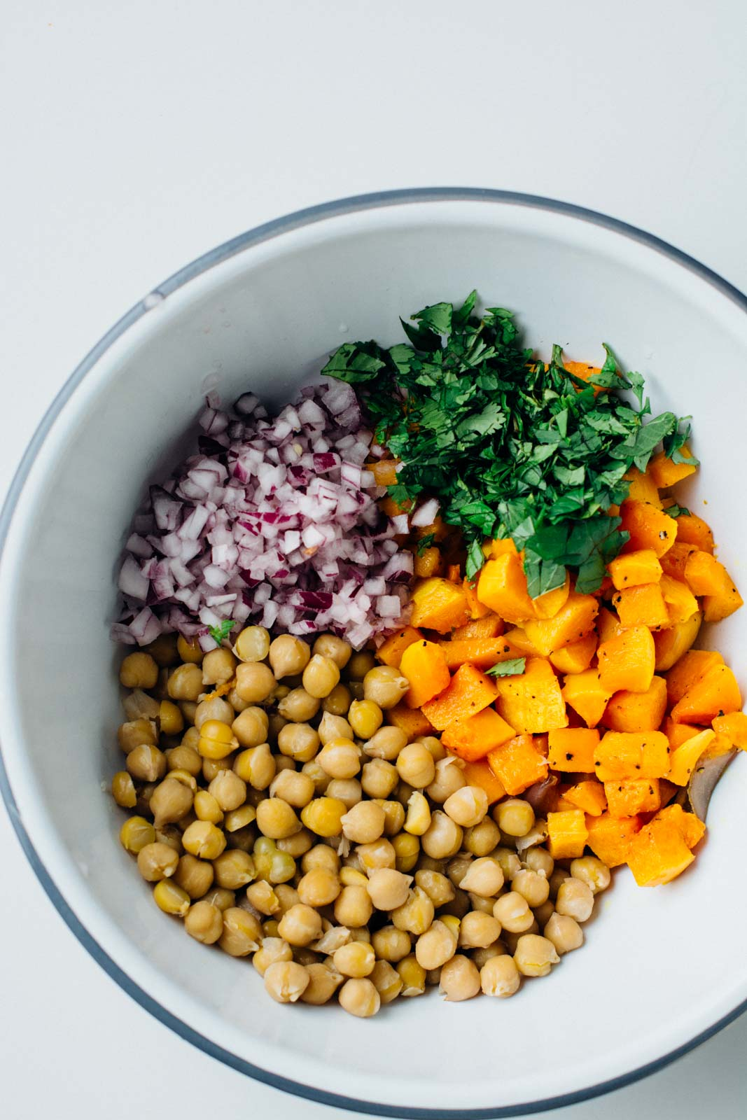 squash and chickpea autumn glow bowl | www.scalingbackblog.com