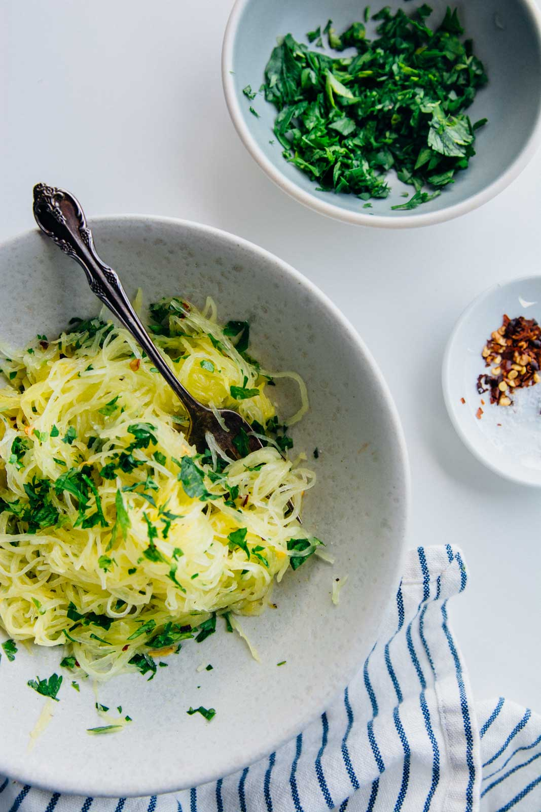 Quicker Roasted Spaghetti Squash {New Year Reset Day 6} | www.scalingbackblog.com