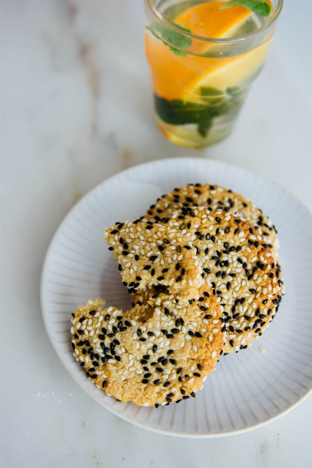 Orange Honey Tahini Cookies {New Year Reset Day 15} | www.scalingbackblog.com