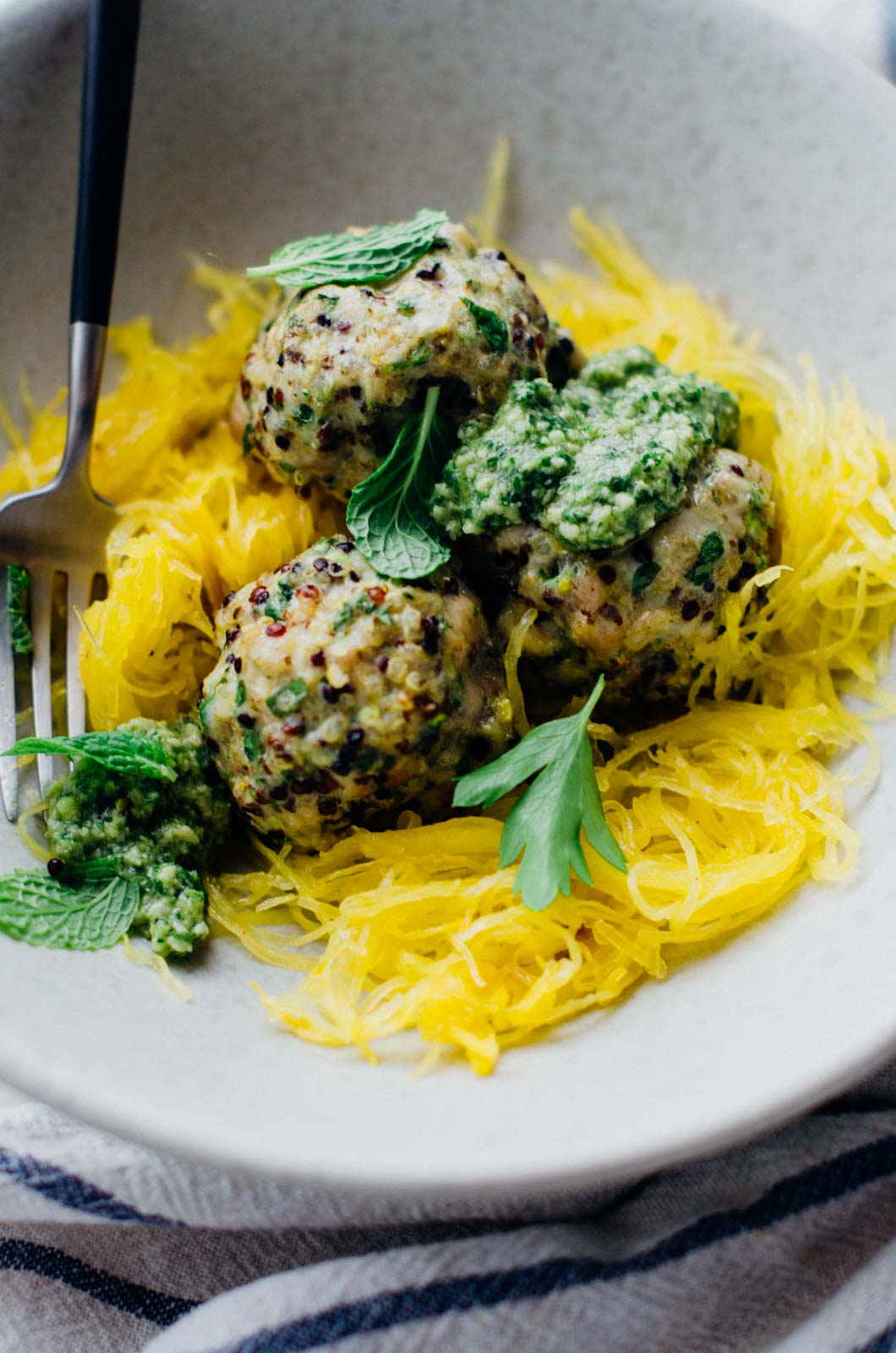 chicken zucchini meatballs {new year reset day 7} | www.scalingbackblog.com