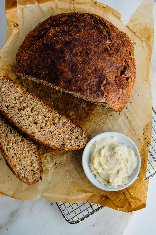No Knead Super Seedy Spelt Bread Scaling Back