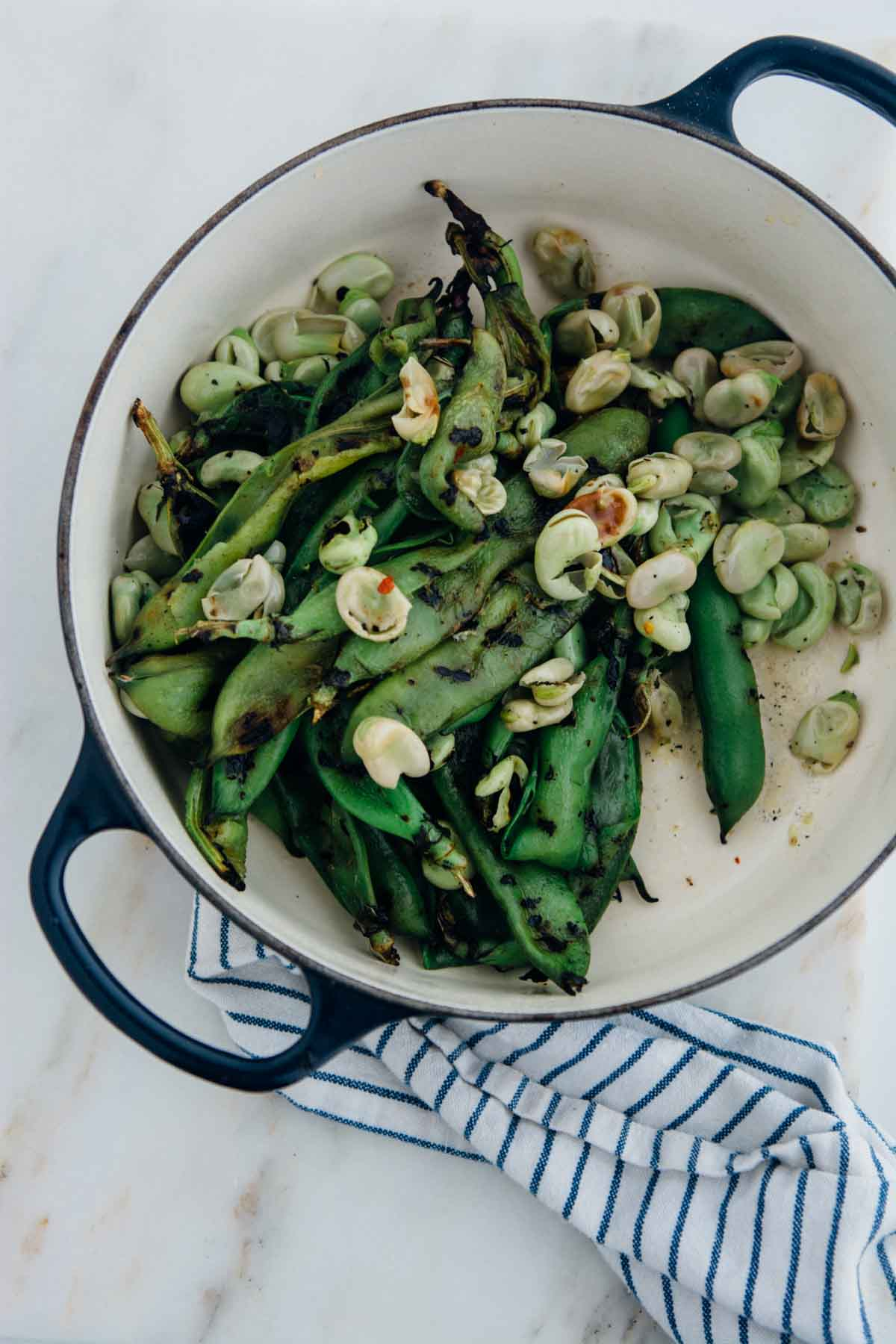 Grilled Fava Beans | www.scalingbackblog.com