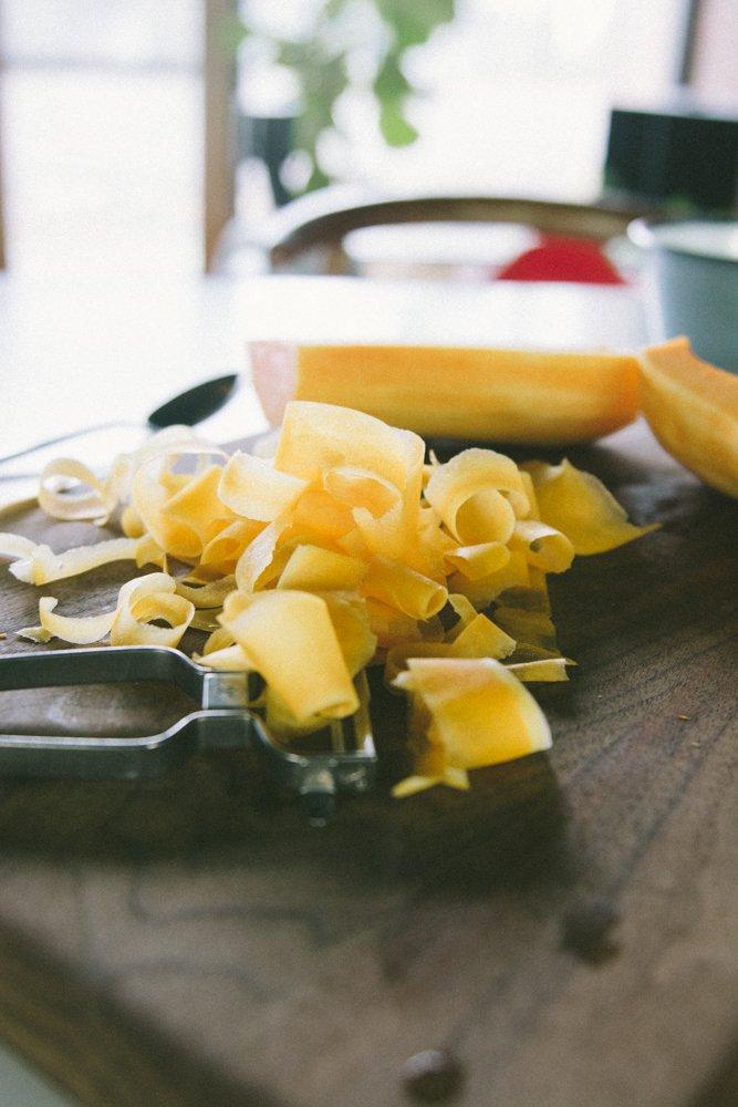 Shaved butternut radicchio salad with dates and hazelnuts {vegan, paleo + gluten-free} www.scalingbackblog.com